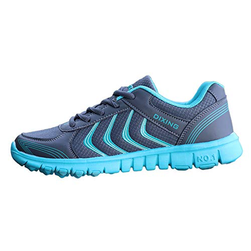 UOKNICE Fashion New Women's Sports Breathable Mesh Lightweight Wearable Running Shoes(Green, CN 37(US 6))