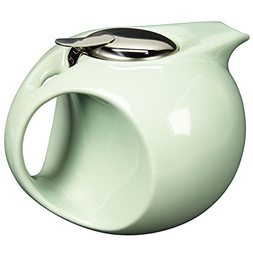 Art Deco Teapot In Mint Green - Removable Diffuser - Retro Sleek Design- 45Oz.