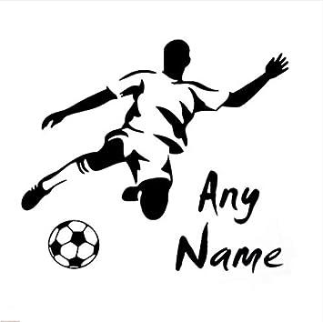 ZHUWall Fútbol, Nombre Personalizado Adecuado para Niños ...