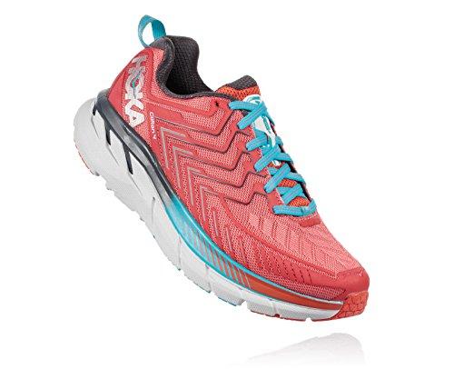 HOKA ONE ONE Women's Clifton 4 Running Shoe Dubarry Grenadine