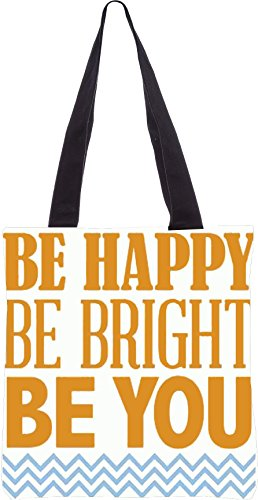 Snoogg Be Happy 2761 Shopping Bag 13,5 X 15 Pollici Realizzato In Tela Di Poliestere