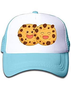 Cookie Smiling On Boys and Girls Trucker Hat, Youth Toddler Mesh Hats Baseball Cap