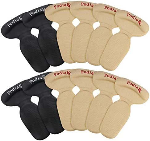 Heel Grips & Heel Cushion Inserts for Women & Men (6 PAIRS- 2 SIZES THICK & THIN) Comfortable Suede Covered Gel Heel Liners Provides Filler for Shoes Too Big   Heel Cushion Pads & Protectors   PodiaRX