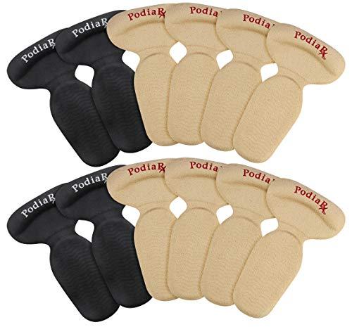 Heel Grips & Heel Cushion Inserts for Women & Men (12 PCS - 2 Heel Thicknesses) Comfortable Suede Covered Gel Heel Liners Provides Filler for Shoes Too Big | Shoe - Guards Heel Gel