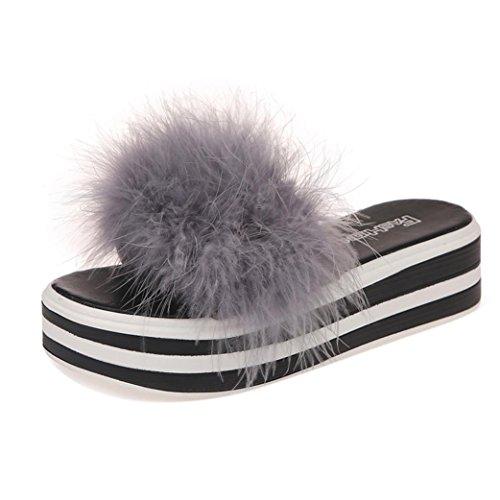 o Moda Zapatillas sint Flip Esponja Flop Mujer de Piel Pastel Verano Oto HHwRp6