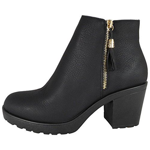 Boots Shoes Ladies Heel Mid Size Ankle Chelsea High Block Low 4 Womens Platform AAw6qZp