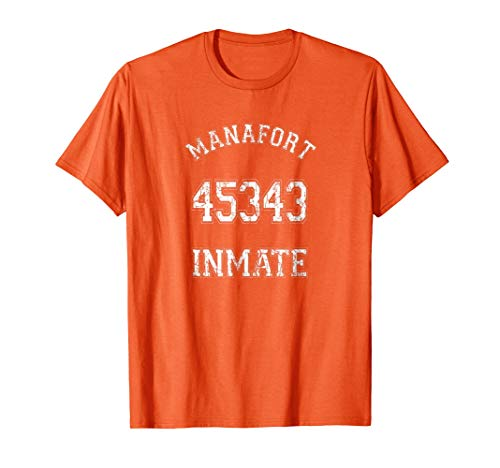 Manafort Inmate 45343 Prison Jumpsuit Costume