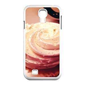 Samsung Galaxy S4 Cases Girl Design Delicious Chocolate Ice Cream, Ice Cream Cone Case for Samsung Galaxy S4 for Men [White]