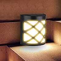 Solar Fence Lights, 6LEDs Light, Waterproof Solar Wall Lights for Outdoor Deck, Patio, Stair, Yard, Path and Driveway…