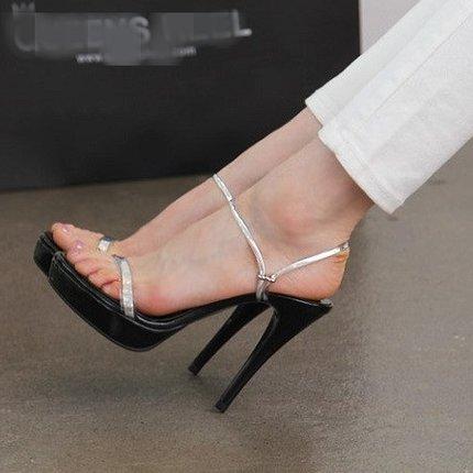 VIVIOO Sandalias De Mujer Sandalias De Tacón Alto Shoessandals De Tacón Alto Femenino Sandalias De Tacón Alto Plataforma Fina Con Astillas Pequeñas Salvajes Silver