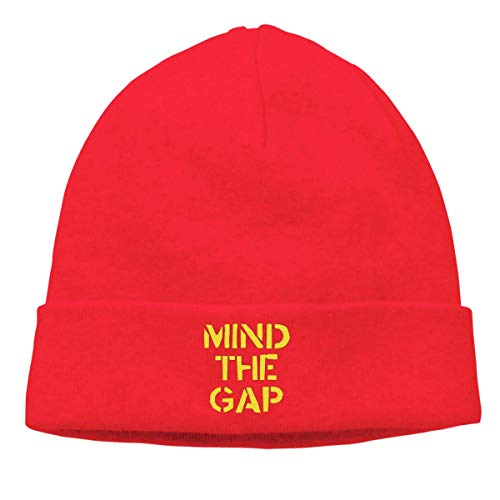 Mind The Gap Warm Beanie Hats Unisex Knit Skull CapBlack,Red,One Size