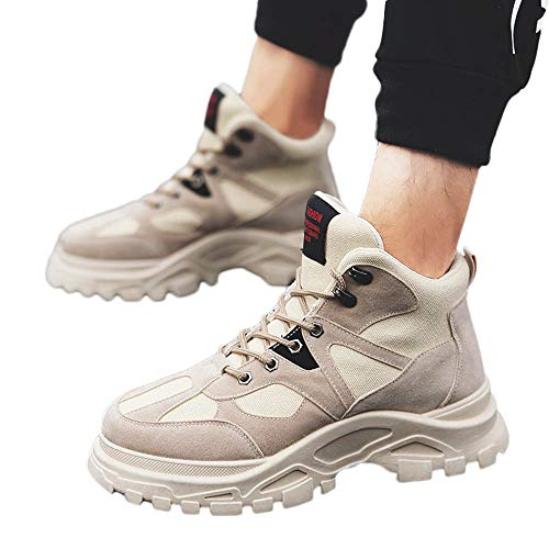 Todaies Winter Men Retro Keep Warm Tooling Shoe Wear Resistant Thick Bottom Desert Boots (40, Beige) for $<!--$22.21-->