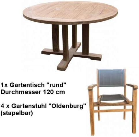 Wohnpalast Timmendorf 120 - Juego de Muebles de jardín (Madera de Teca): Amazon.es: Jardín