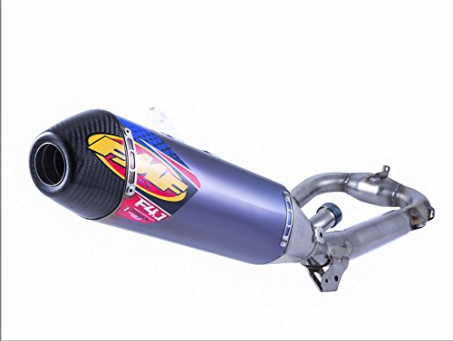 14-18 YAMAHA YZ250F: FMF Factory 4.1 RCT Complete Exhaust With Titanium Megabomb (Blue Anodized Titanium With Carbon Fiber End Cap)