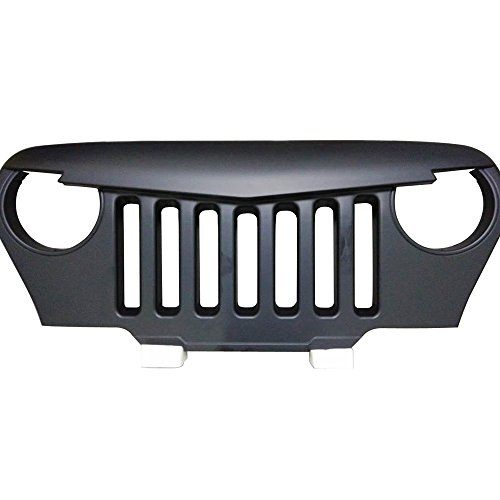 Safaripal Jeep Wrangler TJ Front Grill Skull Grille Angry Grille 1997-2006 Matte Black