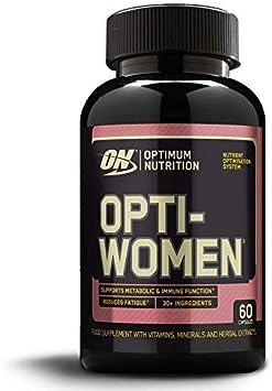 Optimum Nutrition ON Opti-Women, Suplemento Multivitamínico, Multivitaminas y Minerales para Mujeres con Vitamina D, Vitamina C, Magnesio y Acido ...