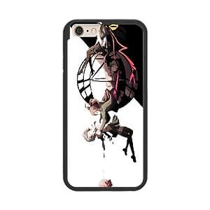 Puella Magi Madoka Magica0 X3Y5QJ4L Caso funda iPhone 6 Plus 5.5 Inch Caso funda del teléfono celular Negro