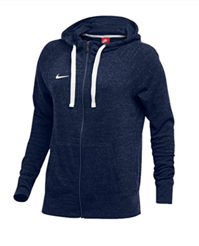 NIKE Womens Gym Vintage Team Hoodie Full Zip Navy/Sail Size (Nike Navy Blue Sweatshirt)
