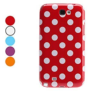 hao Stylish Dots Pattern TPU Soft Case for Samsung Galaxy Note 2 N7100 (Assorted Colors) , Blue