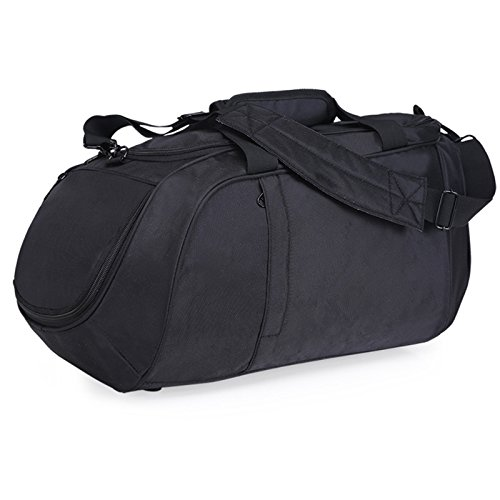 vinmax Gym Shoulder Bag Sports Outdoor Duffle Handle Bag Travel Hand bag with Separate Shoe Compartment (Black) by vinmax