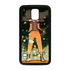 caja del teléfono celular Funda Samsung Galaxy S5 funda Negro naruto equipo B7C2CJ