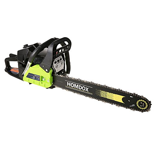 59CC 20'' Gas Chainsaw,Homdox 3.4HP Cordless Petrol Chain Saw 2.0KW Gas Powered Woodcutting Saw for Farm, Garden and Ranch Green by Homdox