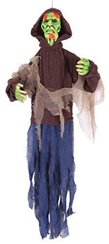 Sunstar Industries Animated Hanging Green Zombie Man Biohazard Nuclear Waste Halloween Prop Décor]()