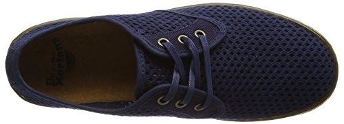 Hombre dark Dr Zapatos De Blue Derby Cordones Mesh Blue Azul Martens Dark Roxon C14wO