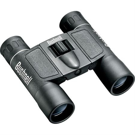 Bushnell Powerview 10x25 Compact Folding Roof Prism Binocular (Black)