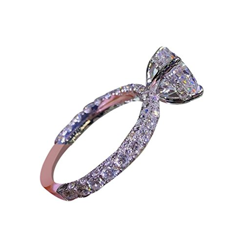 (Alonea Women Rings, Women's Sapphire Ring Engagement Bridal Wedding Band Rings for Her Size 6-10 (Oval Rose Gold❤️, 7) )