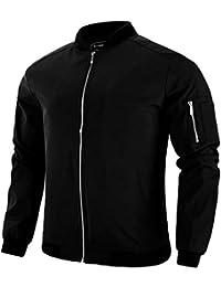 Men's Lightweight Casual Windbreaker Bomber Flight Softshell Jackets Coats