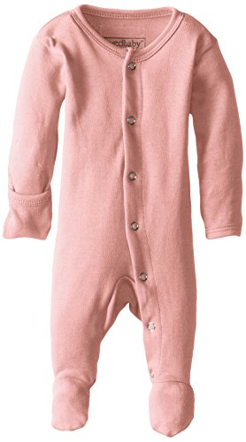 - L'ovedbaby Unisex-Baby Organic Cotton Footed Overall, Coral, 0/3 Months