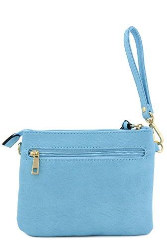 Crossbody Pocket Blue Multi Small Sky Bag xEwRwU