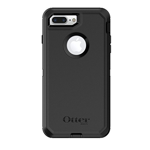 OtterBox Defender Series Case for iPhone 8 Plus & iPhone 7 Plus (Only) - Retail Packaging - Black (Otter Box Cases For I Phone 4)