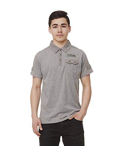 Herren Polo-Shirt, Grau Melange