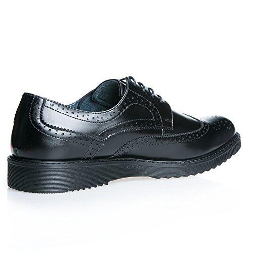UOMO MForshop Nero festa nero cerimonia IA1506 stringate ELEGANTe scarpe parigine francesine PnBa4A1Zq