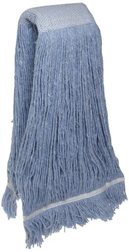 Zephyr 24414 Blendup Blue Blended Natural and Synthetic Fibers 24oz Cut End Wet Mop Head with Wide Band Fantail (Pack of 12) by Zephyr