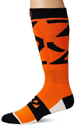 thirtytwo Lashed Socks, Orange, Small/Medium (Two Mens Lashed Thirty)
