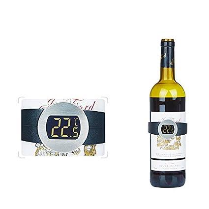 kati-way-uk Smart Termómetro electrónico de Vino, termómetro Digital para Grabar la