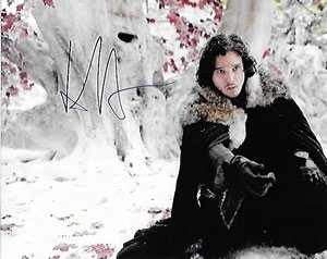(Game of Thrones Star Kit Harington Signed 8x10 Photo (Jon Snow))