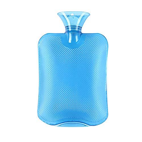 Botella de agua caliente clásico transparente del pvc, Bolsa de agua caliente para aliviar el dolor, Portátil,...