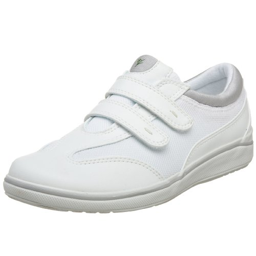 Grasshoppers Women's Stretch Plus Hook-and-Loop Sneaker White