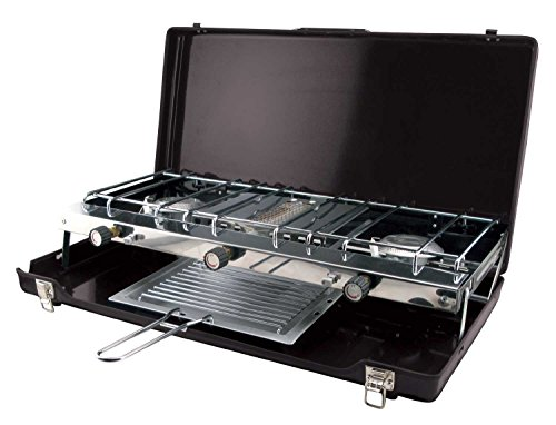 Century Ultime Deluxe 2-Burner Stove with Third Burner Br...