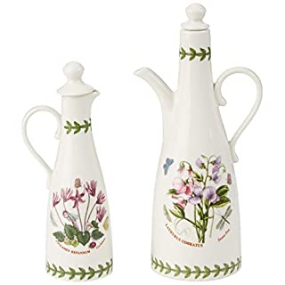 Portmeirion Botanic Garden Oil & Vinegar Set, White