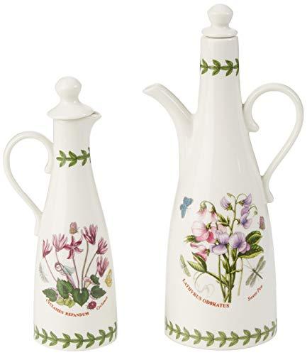 Portmeirion 612631 Botanic Garden Oil & Vinegar Set, White