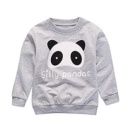 2019 New Children Sweatshirt Winter Boys Infant Panda Print