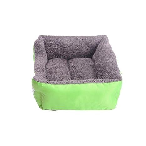 Amazon.com: Candy Color Square mascota perro gato cama casa ...