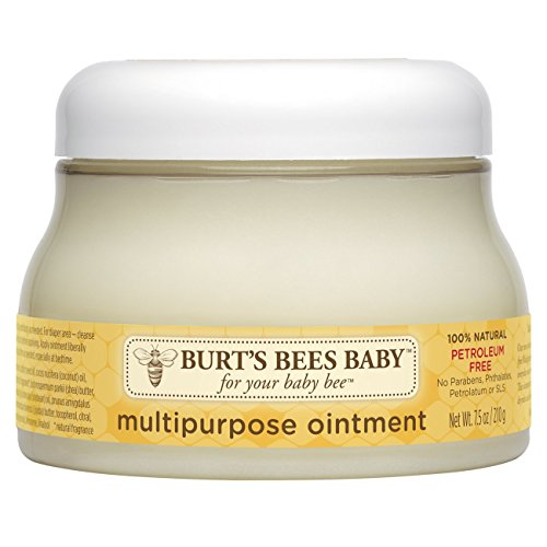Natural Diaper Rash Cream (Burt's Bees Baby 100% Natural Multipurpose Ointment, Face & Body Baby Ointment – 7.5 Ounce Tub)