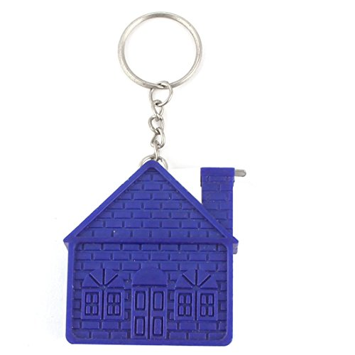 Aexit Plastic House Tools & Home Improvement Shaped Shell Keychain Retractable Dual Measuring Tape Ruler Tape Measures Blue 1M