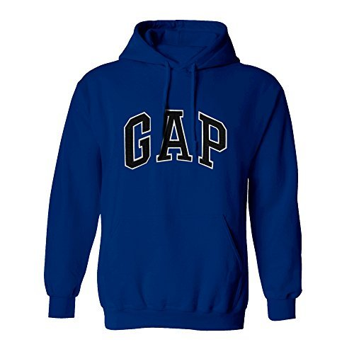 - GAP Pullover Men's Fleece Hoodie Logo (Large, Dark Blue)